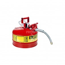 JUSTRITE 2.5 GALLON SAFETY CAN W/HOSE